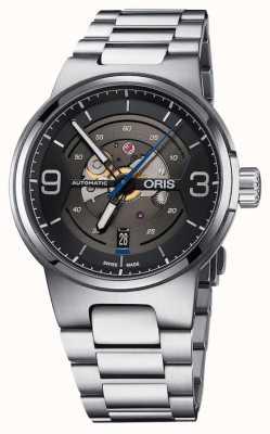 Oris Williams motor fecha automático de acero inoxidable esfera negra 01 733 7716 4164-07 8 24 50