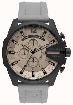 Diesel Reloj hombre mega jefe correa de plástico gris esfera gris DZ4496