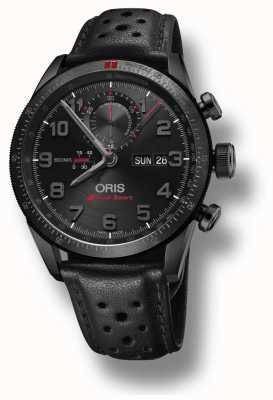 Oris Audi sport edición limitada ii correa de cuero negra automática 01 778 7661 7784-SET LS