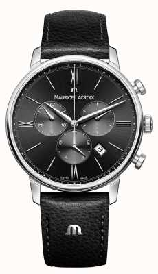 Maurice Lacroix Eliros cronógrafo para hombre esfera negra EL1098-SS001-310-1