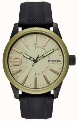 Diesel Correa de caucho negro para hombre reloj escofina DZ1875