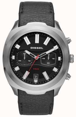 Diesel Correa de cuero negra para hombre. DZ4499