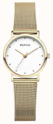 Bering Reloj de señora clásico de malla dorada 13426-334