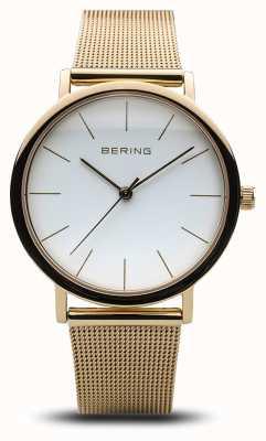 Bering Reloj de señora clásico de malla dorada 13436-334