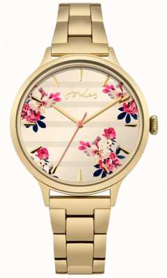 Joules Womens flora oro pvd plateado pulsera floral dial JSL002GM