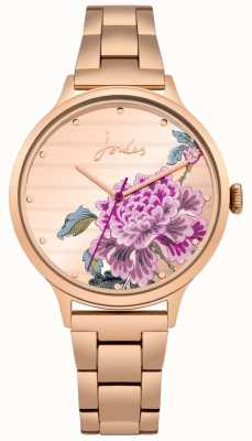 Joules Pulsera floral de pvd flor rosa para mujer con esfera floral. JSL002RGM