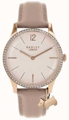 Radley Correa de cuero rosa de millbank para mujer RY2524