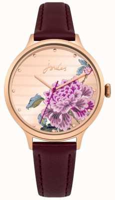 Joules Correa de cuero púrpura de julios para mujer dial multicolor JSL002VRG