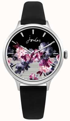 Joules Correa de cuero negro para mujer, julios, esfera púrpura multicolor. JSL002B