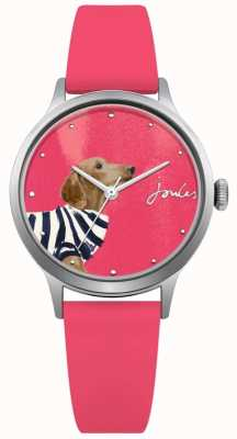 Joules Correa de silicona rosa para mujer esfera rosa JSL010P