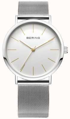 Bering Reloj clásico de la colección con banda de malla y resistencia al rayado. 13436-001