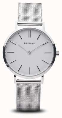 Bering Reloj para mujer clásico acero inoxidable plata 14134-004