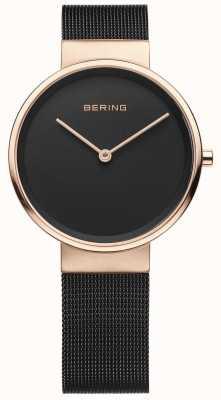 Bering Reloj analógico de cuarzo para mujer con correa de acero inoxidable. 14531-166