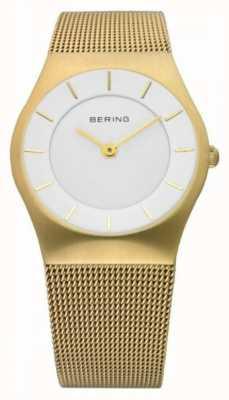 Bering El | reloj para mujer correa de malla dorada | 11930-334