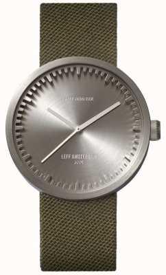Leff Amsterdam Reloj tubo d38 cordura caja acero correa verde LT71004