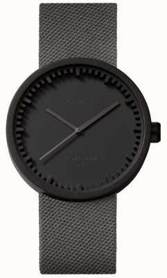 Leff Amsterdam Reloj tubo d38 | cordura negro mate | correa gris LT71015