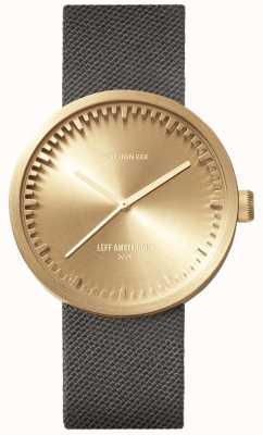 Leff Amsterdam Reloj tubo d38 | cordura latón | correa gris LT71025
