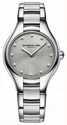 Raymond Weil Pulsera de acero inoxidable para mujer con diamante Noemia. 5132-ST-65081