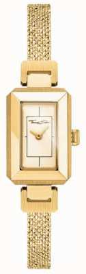 Thomas Sabo Pulsera para mujer de acero inoxidable amarillo / oro, esfera dorada. WA0331-246-207-23