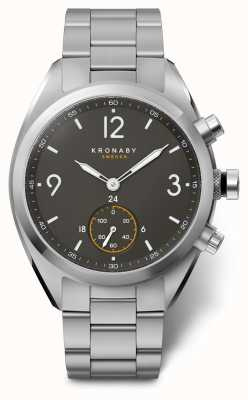 Kronaby Mens apex 41 bluetooth acero inoxidable esfera negra smartwatch A1000-3113