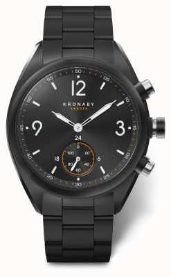 Kronaby Esfera / brazalete negro de acero inoxidable Bluetooth para el ápice 41 A1000-3115