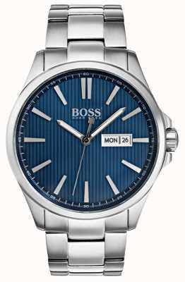 Hugo Boss Pulsera hombre james acero inoxidable esfera azul. 1513533