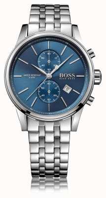 Hugo Boss Pulsera de acero inoxidable para hombre jet crono esfera azul. 1513384