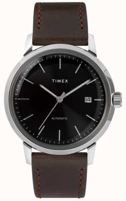 Timex Marlin automático | correa de cuero marron | TW2T230007U