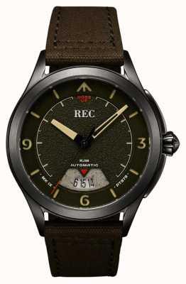 REC | pt879 mk ix spitfire | correa de lona | reloj automático | RJM-03