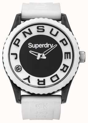 Superdry Urbano | correa de silicona blanca | esfera blanca y negra SYG145WA