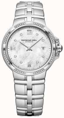 Raymond Weil Parsifal damas cuarzo clásico | 56 diamantes | madre perla 5180-STS-00995