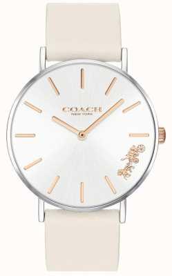Coach Reloj perry para mujer | tiza cuero blanco | esfera blanca 14503117