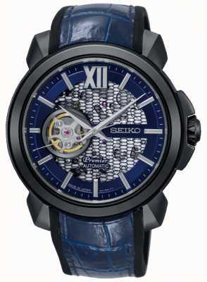 Seiko Primera edición limitada para hombre | esqueleto automático | azul SSA375J1