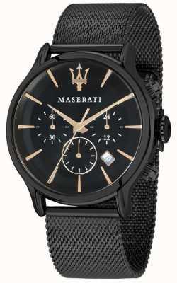 Maserati Epoca para hombre 42mm | esfera negra | pulsera de malla negra R8873618006