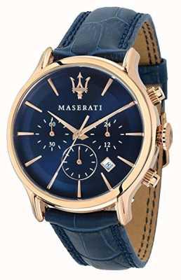 Maserati Epoca para hombre 42mm | esfera azul | correa de cuero azul R8871618007