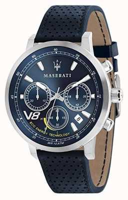 Maserati Mens gt 44mm | solar | caja de plata | esfera azul | cuero azul R8871134002