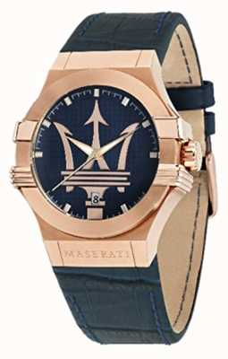 Maserati Potenza para hombre 42mm | caja chapada en oro | esfera azul R8851108027