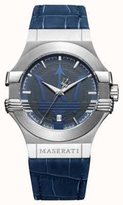 Maserati Potenza para hombre 42mm | acero inoxidable | esfera azul | correa azul R8851108015