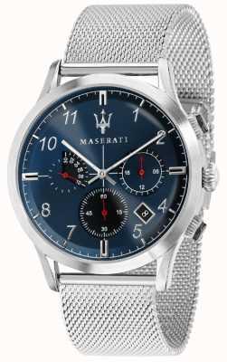 Maserati Hombre ricordo 42mm | esfera azul | pulsera de malla de acero inoxidable R8873625003