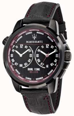 Maserati Hombre suceso 44mm | esfera negra | correa de cuero negro R8851121002