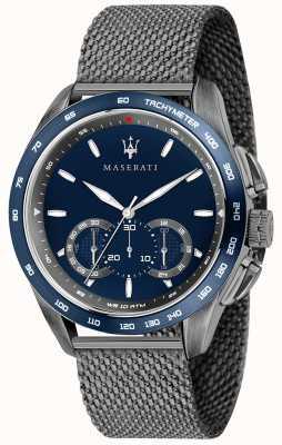 Maserati Hombre traguardo 45mm | esfera azul | pulsera de malla gris R8873612009