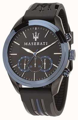 Maserati Cronógrafo para hombre traguardo | esfera azul | silicona negra R8871612006