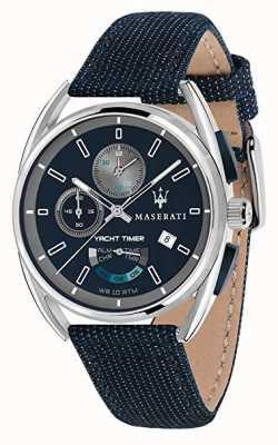 Maserati Trimarano yatch timer 41 | esfera azul | correa de tela azul R8851132001