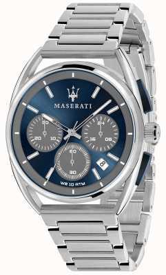 Maserati Mens trimarano 41mm | esfera azul | pulsera de acero inoxidable R8873632004