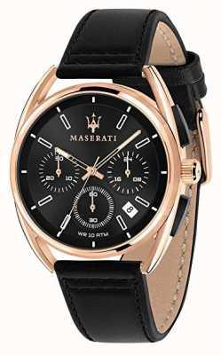 Maserati Mens trimarano 41mm | caja de oro rosa | esfera negra | R8871632002