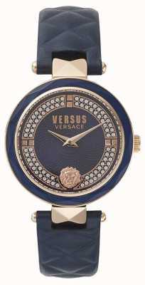 Versus Versace Jardín de mujeres covent | esfera azul swarovski | cuero azul VSPCD2817
