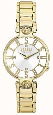 Versus Versace Kristenhof para mujer | esfera plateada | acero inoxidable dorado VSP490618