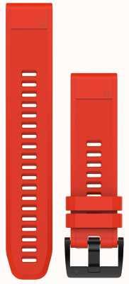 Garmin Correa de caucho rojo fuego quickfit 22 mm fenix 5 / instinto 010-12496-03