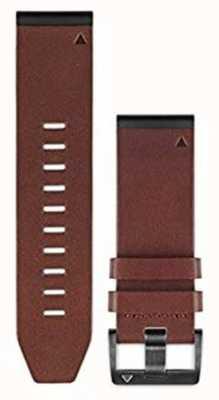 Garmin Correa de cuero marrón quickfit 26mm fenix 5x / tactix charlie 010-12517-04