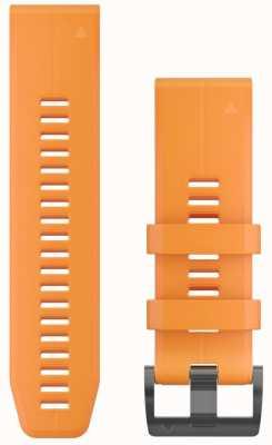 Garmin Correa de caucho naranja quickfit 26mm fenix 5x / tactix charlie 010-12741-03